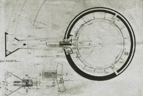 Architectural plans for exhibit hall